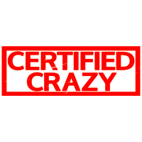 Certified Crazy Stamp