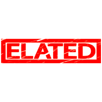 Elated Stamp