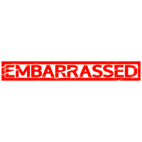 Embarrassed Stamp